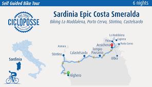 Sardinia Map Bike Tour North Coast Of Sardinia Self Guided Cicloposse