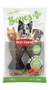 bones skin u0026 coat dog chew bar with salmon bestfriend com