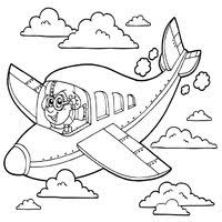 airplane coloring pages surfnetkids