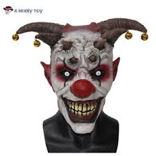 scary props scary clown costume mask party