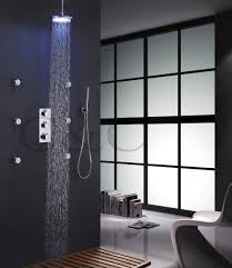 shower spray jets promotion shop for promotional shower spray jets 8 inch chrome led shower head 6 pcs spa body massage spray jets thermostatic bathroom round shower set