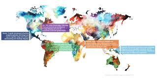 Watercolor Map Of The World by About Us U2013 Global Knowledge Initiative