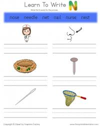 learn to write words that start with a free printable