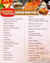 Buffet Prices At Golden Corral by Golden Corral Restaurant Daily Menu