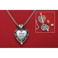 ashes necklace etc always in my heart memorial ashes urn necklace