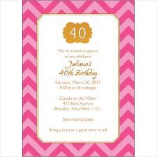 40th bday party invitations morningperson co