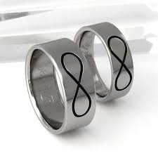 titanium wedding ring sets for him and infinity titanium wedding band set his and hers matching bands