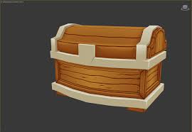 treasure chest 3d production