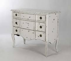 shabby french style distressed white elm wood chest dresser from