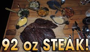 cuisine de a 0 z steak s 92oz vs steak undefeated challenge