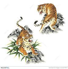 japanese tiger illustration 42379573 megapixl