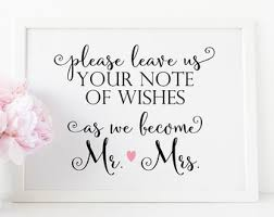 wedding wishes note wedding wishes etsy
