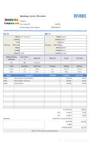 cleaning service receipt template bill format for integrated security service invoicing sample for quilting service
