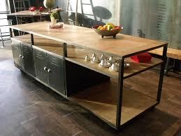 ilot cuisine sur mesure ilot de cuisine bois métal sur mesure micheli design vintage