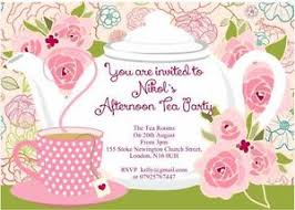 10 x personalised afternoon tea invitations and thank you