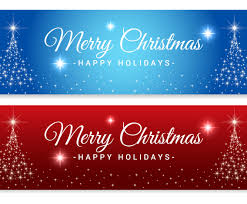 sparkle merry tree banners vector graphics