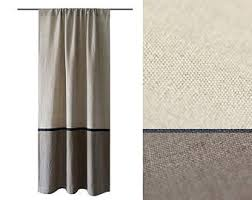 Custom Blackout Drapes Natural Linen Curtains Custom Color Drapes Unlined Blackout