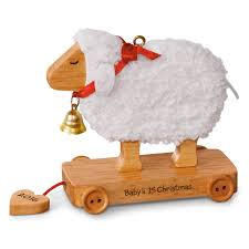 little lamb baby u0027s first christmas ornament keepsake ornaments