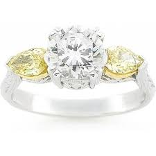fancy yellow diamond engagement rings tacori fancy yellow diamond engagement ring h l gross jewelers