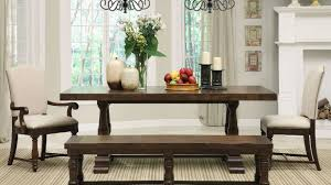 dining room the rustic booth style kitchen table with bench for