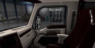 kenworth 2016 kenworth t680 white lux interior mod american truck simulator