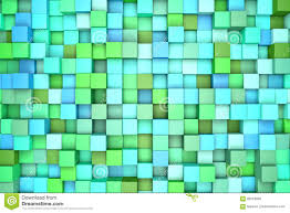3d illustration abstract background colored blocks green blue