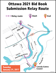Ottawa Canada Map Sport Community To Relay The Ottawa 2021 Canada Summer Games Bid