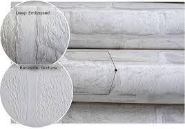 3d Wallpaper Home Decor by 3d Brick Pattern Wallpaper Roll White Grey Textured Wallpaper Home