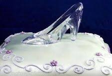 glass wedding cake toppers 6 cinderella glass slipper clear plastic princess shoe 5 x 3