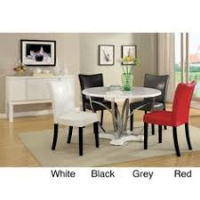 Overstock Dining Room Sets by 5 Pc Furniture Of America Livada Ii White Counter Height Dining