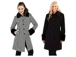 womens warm winter coat faux fur cuffs collar woollen jacket