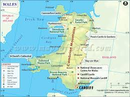 where is wales on the map wales map is showing counties cities towns of wales on this map