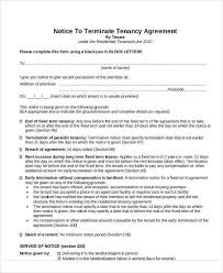 tenant agreement letter tenancy agreement letter sample free