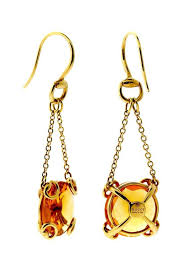 citrine earrings gucci citrine gold horsebit earrings at 1stdibs
