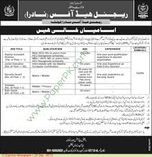 Security Guard Jobs With No Experience Nadra Quetta Jobs On 24 September 2017 Paperpk Com
