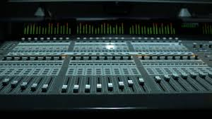 Studio Mixer Desk by Music Mixer Desk Table In Recording Studio Stock Video Footage