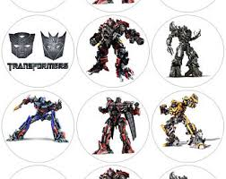 transformers cupcake toppers transformer cake toppers candy edible transformer etsy
