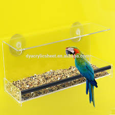 clear plastic window bird feeder sale hanging acrylic bird water feeder buy acrylic bird
