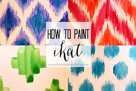 Paint Design by How To Paint Ikat Patterns Youtube