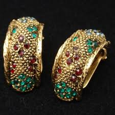 bergere earrings bergere set vintage brooch pin earrings ring rhinestones world