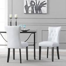White Dining Chairs White Leather Dining Chairs Ebay