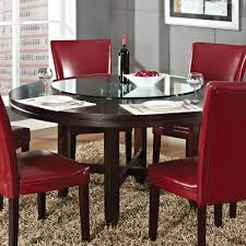 Silver Dining Room Steve Silver Hartford 7 Piece Round Dining Room Set W Red Chairs