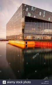 Sunset Reykjavik Harpa Concert Hall And Conference Centre Opera House Reykjavik
