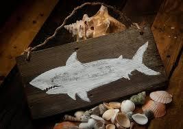 amazon com shark decor shark sign rustic beach decor beach house