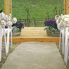 aisle runner burlap aisle runner outdoor wedding decor flooring the knot shop