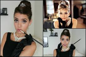 audrey hepburn breakfast at tiffany u0027s halloween tutorial hair