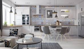 mosaique cuisine cuisine avec carreaux mosaique arkko