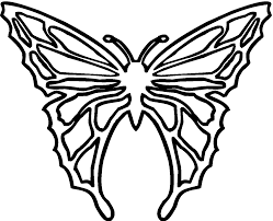 butterfly template best template collection clip art library