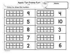 free printable ten frame worksheets education pinterest ten