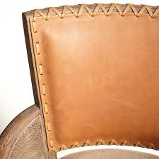 Rustic Leather Armchair Rustic Stitched Back Arm Chair Wisteria